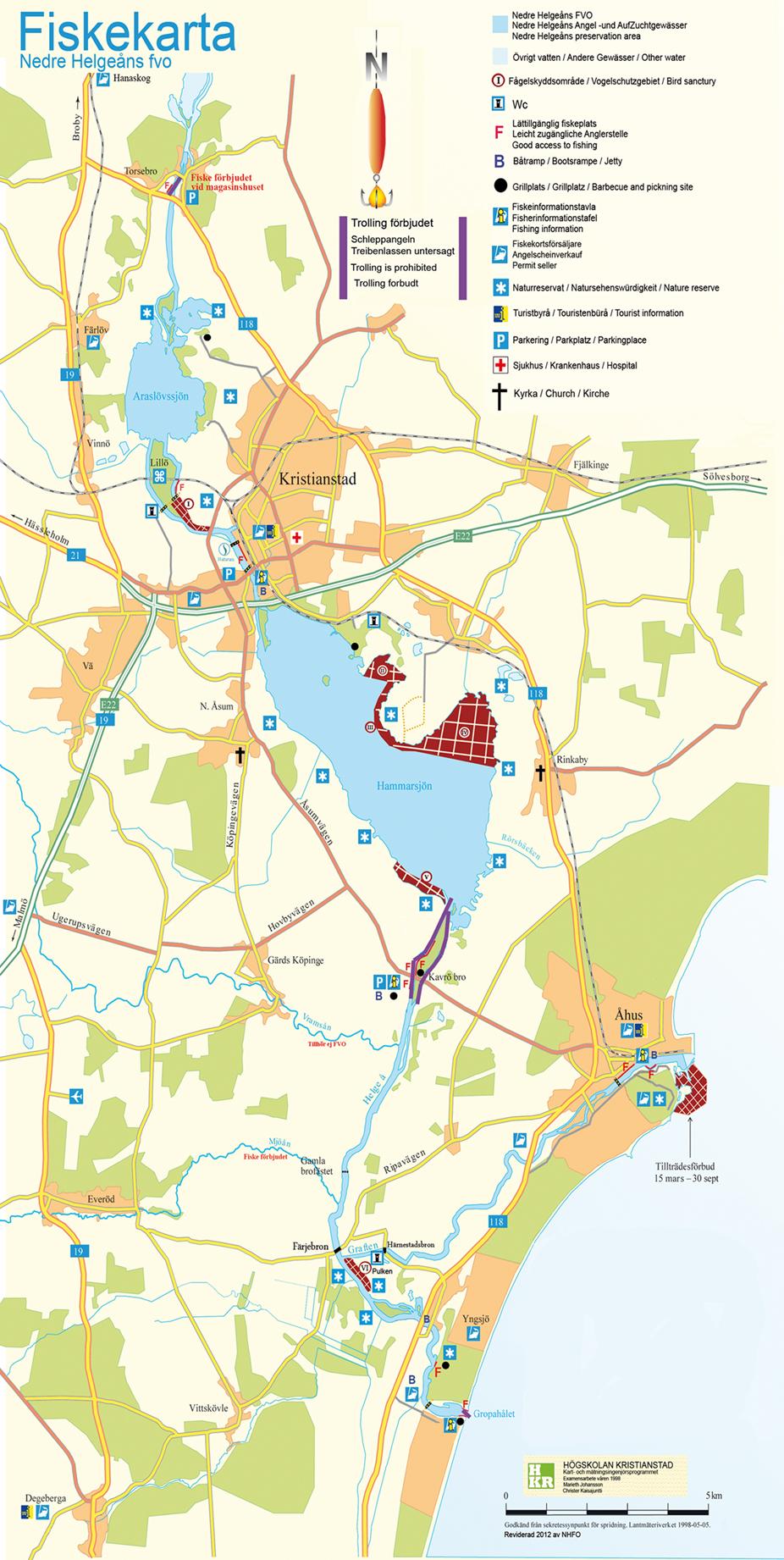 Karta över fiskevårdområdet